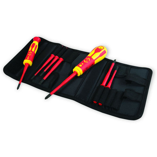 C.K VDE Insulated Screwdriver Set With Slim Interchangeable Blades T4925