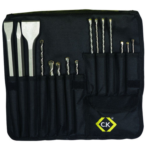 C.K SDS Concrete Drill Bit & Chisel Set of 15pcs T3133